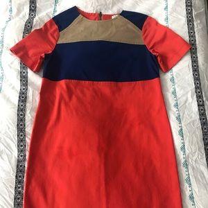 Derek Lam 10 Crosby Orange Colorblock Dress Size 0